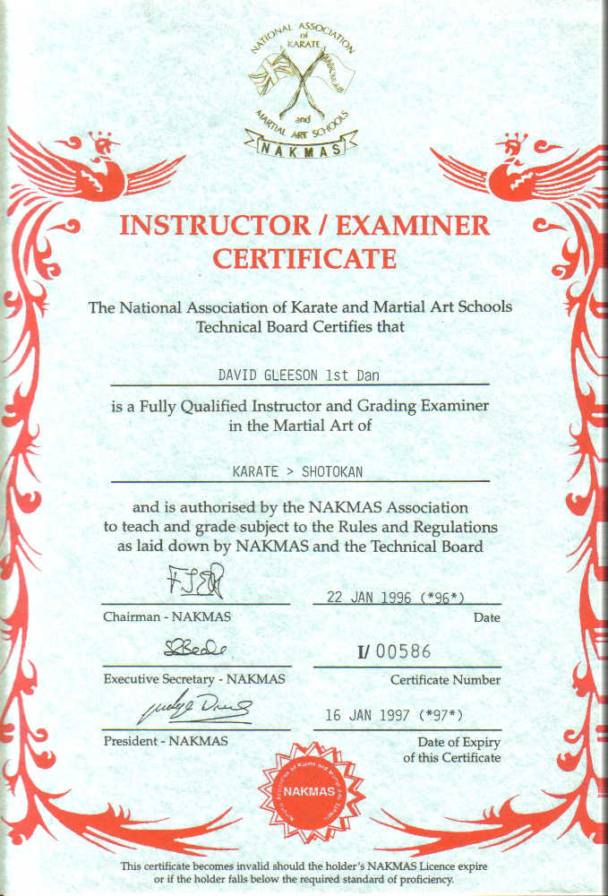 Fitness Instructor Certificate Wabba Fitness Instructor